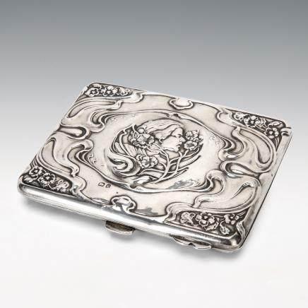 新藝術風格銀製煙盒
