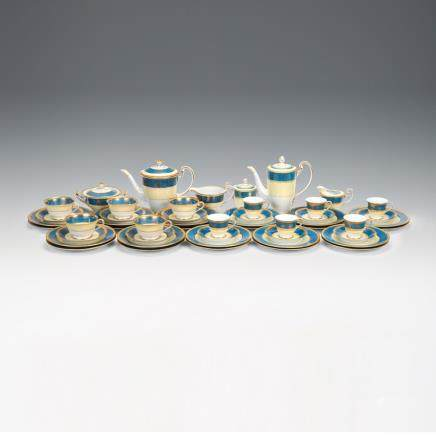 古則武瓷器 花飾紋金彩咖啡具 50件