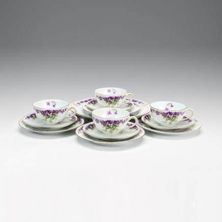 湯瑪士 巴伐利亞 金彩紫羅蘭紋餐具 13件