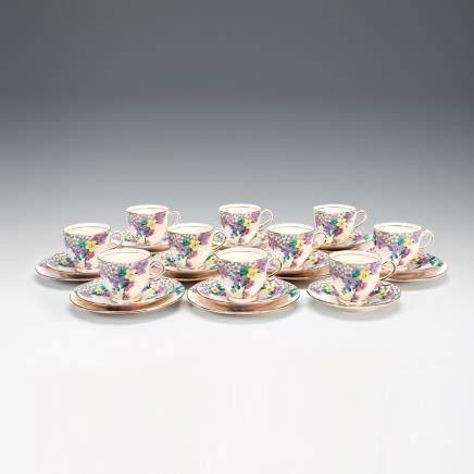 RH & SL 普蘭特 金彩花紋餐具 29件