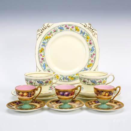 皇家伍斯特 & 切爾森 金彩果實花蝶紋餐具 13件