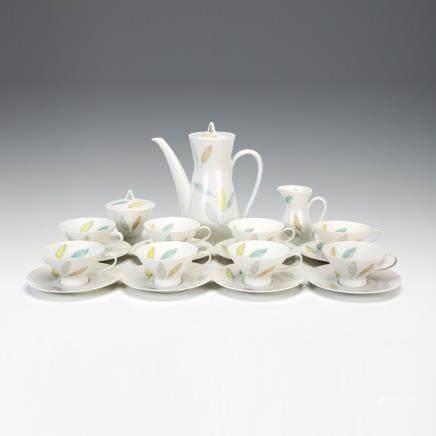 羅森塔爾 樹葉紋茶具 19件