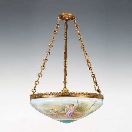 塞弗爾風格 女神天使紋吊燈