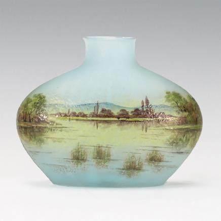 杜姆兄弟 教堂湖水風景紋花瓶