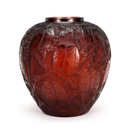勒内・拉利克 花瓶「鸚鵡」