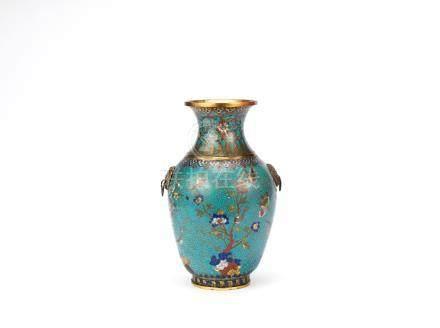 A cloisonné enamel 'flowers of the four seasons' baluster vase