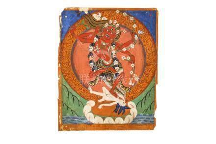 西藏十九世紀   繪作明佛母唐卡