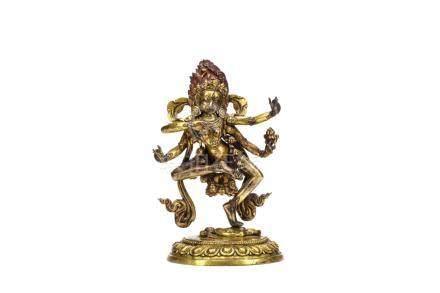 清乾隆   銅鎏金作明佛母像