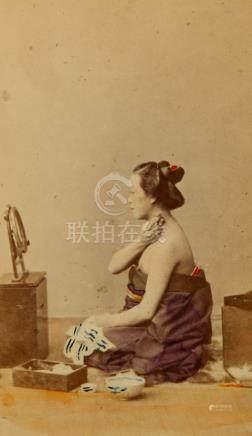 A RARE CARTE-DE-VISITE ALBUM BY FELICE BEATO. Circa 1863