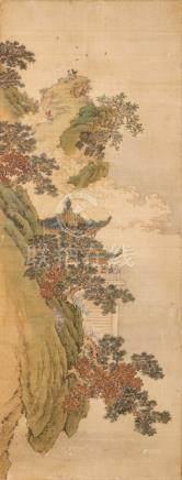 佚名 園景圖