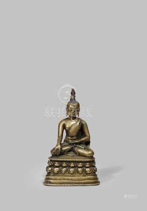 A RARE TIBETAN BRONZE PALA-STYLE FIGURE OF BUDDHA