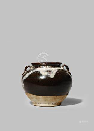 A SMALL CHINESE PHOSPHATIC GLAZED JAR