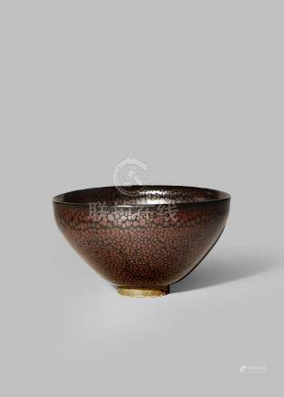 A RARE CHINESE JIAN OIL-SPOT GLAZED BOWL