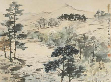 ZHANG QIAN YING (1913-2003) SCOTTISH LAKESIDE SCENE