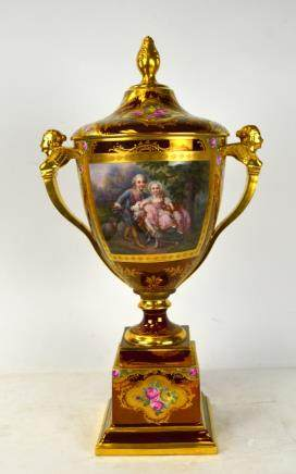 Royal Vinenna Vase with Cover & Base