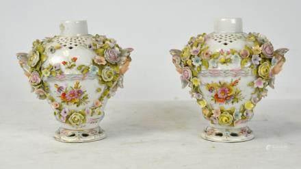 Pr Meissen Style Vases