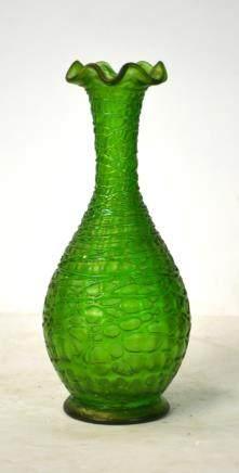 Possible Loetz Green Art Glass Vase