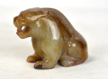 Antique Chinese Carved Jade  Animal Figure