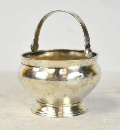 Russian Silver Bowl with Handle
