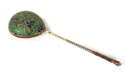 Russian Enamel Spoon