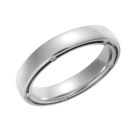 達米亞尼  D.SIDE 鑽石 白金結婚戒指