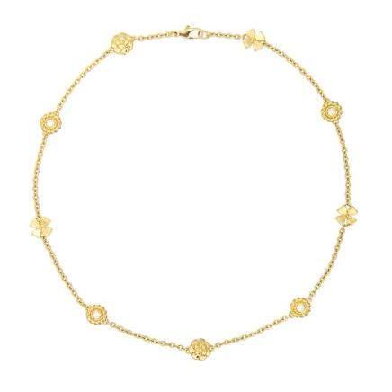 香奈兒  三象徵 鑽石 黃金項鏈