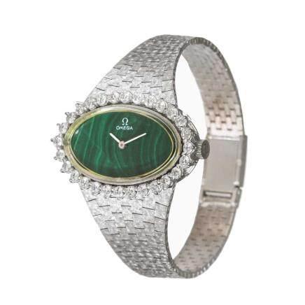 歐米茄  鑽石 白金腕錶