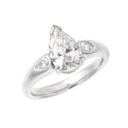 1.514 ct 鑽石 鉑金戒指