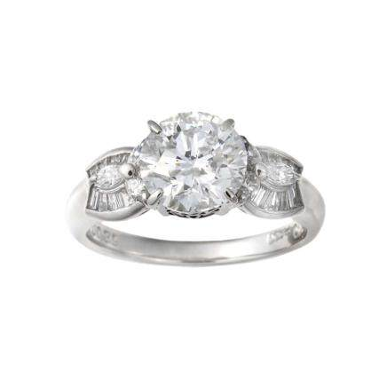 2.010 ct 鑽石 鉑金戒指