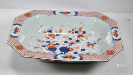Chinese Kangxi ca. 1700 Porcelain Octagon Bowl