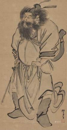 钟馗图(吕凤子款)