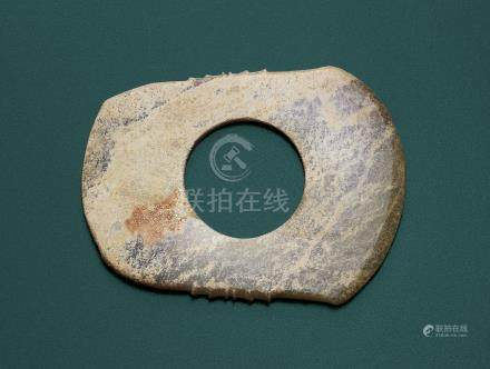 A JADE CEREMONIAL AXE, QI