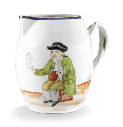 A RARE CHINESE EUROPEAN-SUBJECT CIDER-JUG