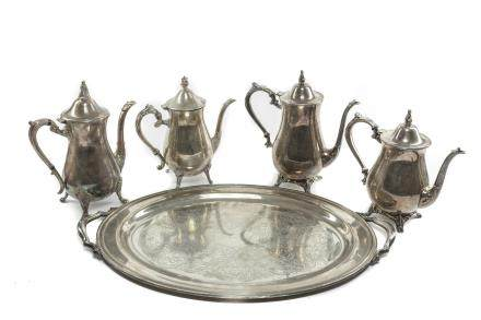 American Antique/Vintage Silver Plated Tes Set