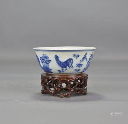 CHINESE PORCELAIN CHICKEN CUP