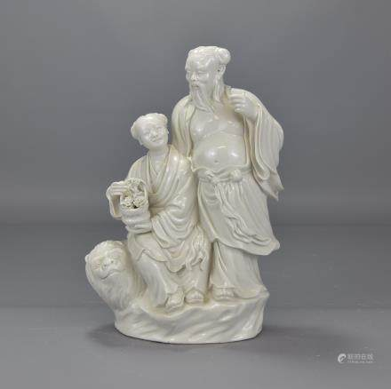 CHINESE WHITE POCELAIN FIGURE