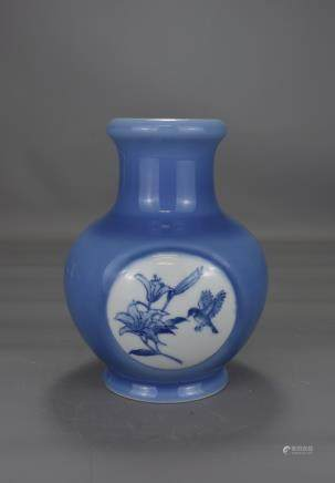 CHINESE POWER BLUE VASE