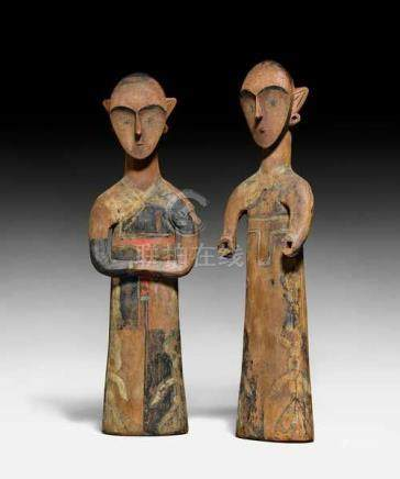 TWO STANDING FEMALE FIGURES