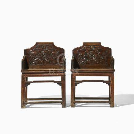 A PAIR OF CHINESE ARMCHAIRS