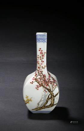 A famille rose 'prunus' vase