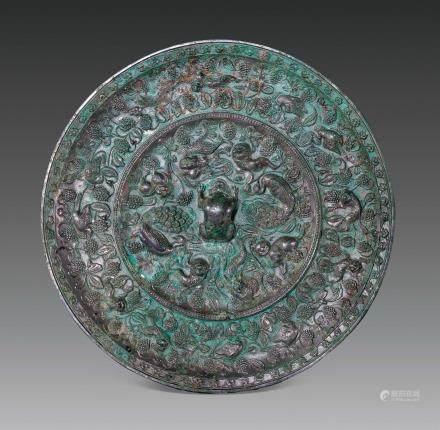 唐代海兽葡萄镜