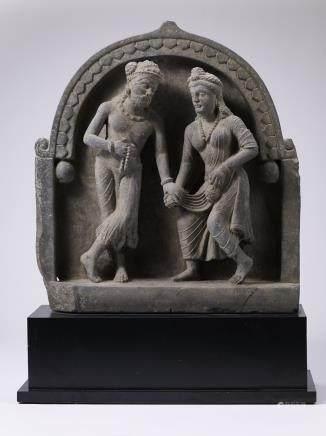 犍陀羅人物石雕立像