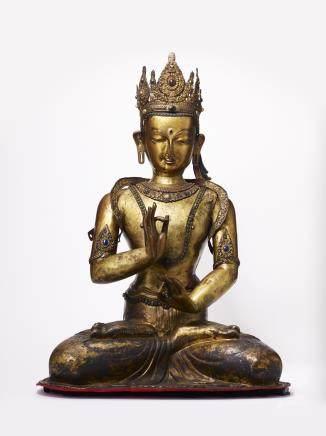 鑲七寶觀音菩薩坐像