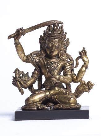 四臂文殊菩薩像;釋迦牟尼坐像
