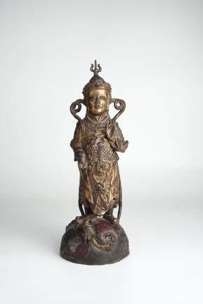 Ming, Gilt Bronze Standing Buddha