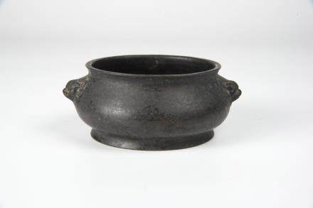 Qing, Qianlong Censor with Lion Mask Handle