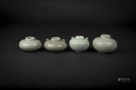 Four Small Longuan Celadon Jars