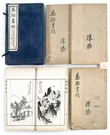 MA TAI (1883-1937): Ma Tai Hua Wen, four volumes, thread bound - Property from a Hungarian private collection - Stained