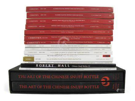 16 VOL. SNUFFBOTTLES: The Art of the Chinese snuffbottle and 15 auction catalogues - Property from a European private collection