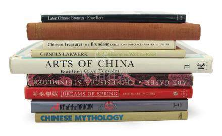 9 VOL. CHINA: Chinesische Schilderkunst / Later Chinese Bronzes / Arts of China, Buddhist Cave Temples New Reaserches a.o. - Property from an European private collection